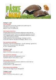 Søndag d. 1. april Hasle Havnegrill Prøv vore ... - Destinationen.dk