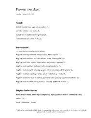 Frokost menu kort - Orangeriet