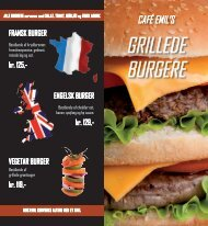 GRiLLEdE BURGERE - Cafe Emil