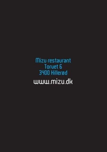 Mizu sticks - Mizu Sushi