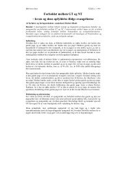 Forholdet mellem GT og NT – loven og dens opfyldelse ifølge ...