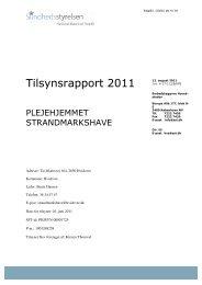 Tilsynsrapport 2011 - Hvidovre Kommune