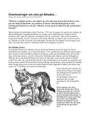 Da ulvene hærgede på Alheden for 250 år siden… - Lokalhistorisk ...