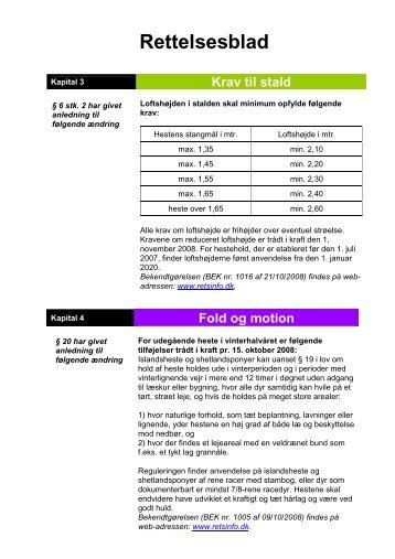 Rettelsesblad - LandbrugsInfo