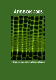 ÅRSBOK 2005 - Föreningen Skogsträdsförädling
