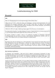 Ledelsesberetning for 2004 Resumé - Nielsen - Global Value