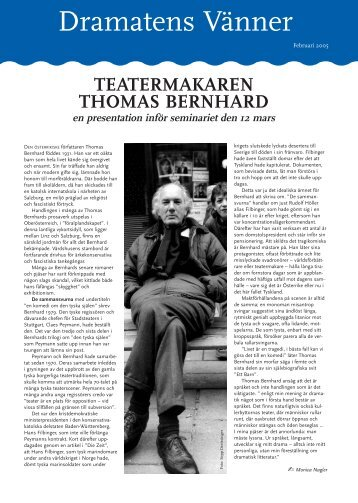 Medelemsblad februari - Dramatens vänner