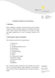 Vejledning om hundelovens forbudsordning - Boligkontoret Danmark