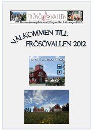 EFS Missionsförening Östersund | Programblad Juni – Augusti 2012