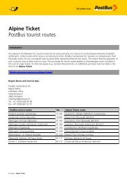 Alpine Ticket - Postauto