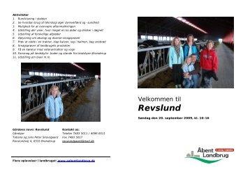 Landbrugsbesøg REVSLUNDGÅRD - Branderup