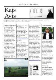 Jan Hatt-Olsen med på Europæiske Biennale for byer og ... - Kajs Avis