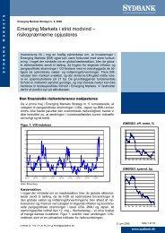 Emerging Markets i strid modvind – risikopræmierne ... - Sydinvest