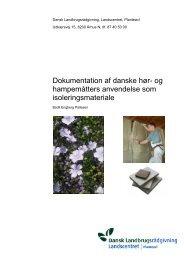 Dokumentation af danske hør - Alternativ isolering