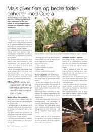 ,, Majs giver flere og bedre foder- enheder med Opera - BASF A/S