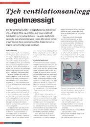 Tjek ventilationsanlægget regelmæssigt - Forlaget Børs-Mark A/S