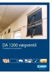 DA 1200 vægventil - Skov A/S