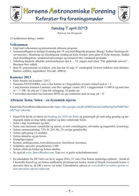 Seneste (pdf) - Horsens Astronomiske Forening