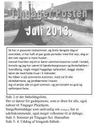 Tingager Posten Juli 2013 ( pdf fil åbner nyt vindue)