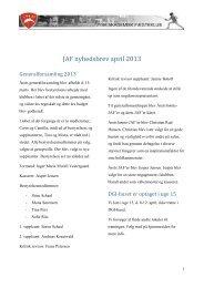 JAF nyhedsbrev april 2013