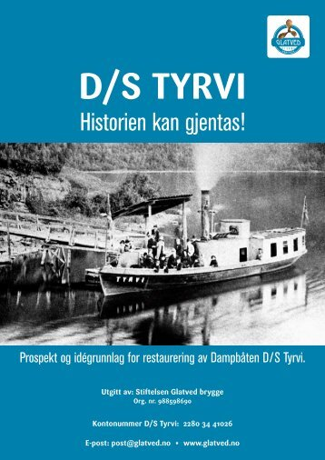 Prospekt på D/S Tyrvi - Glatved Brygge