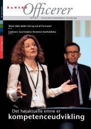 Det højaktuelle emne er - Hovedorganisationen af Officerer i Danmark