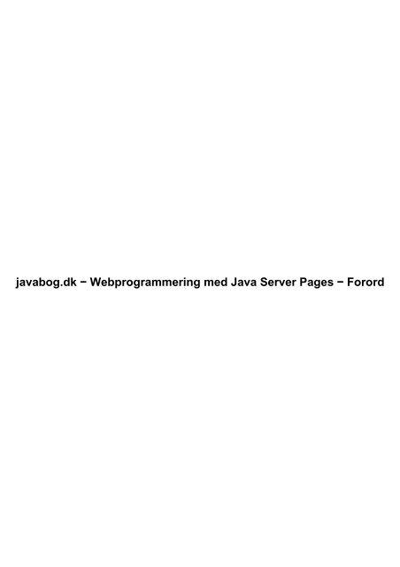 Offline Pdf Udgave Objektorienteret Programmering I Java