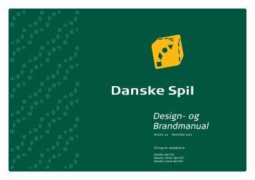 Hele designmanualen kan du se her - Danske Spil
