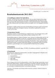 Resultatslønkontrakt for Rektor Peter Abildgaard Andersen