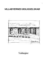 Vedtægter - Villabyernes Boligselskab