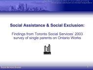 Social Assistance & Social Exclusion presentation