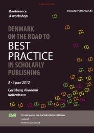 Program pr. 23. april - Best Practice