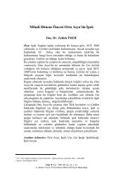 Miladi Dönem Öncesi Orta Asya'da İpek - Ahmet Yesevi Üniversitesi