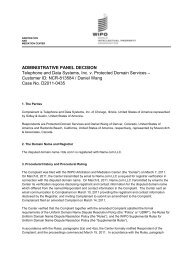 ADMINISTRATIVE PANEL DECISION Telephone ... - DNattorney.com
