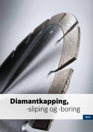 Diamantkapping, -sliping og -boring - Bosch elektroverktøy