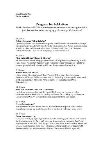 Program for bokkafeen - Bydel Gamle Oslo