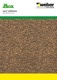 Leca® Lättklinker egenskapsredovisning - Weber