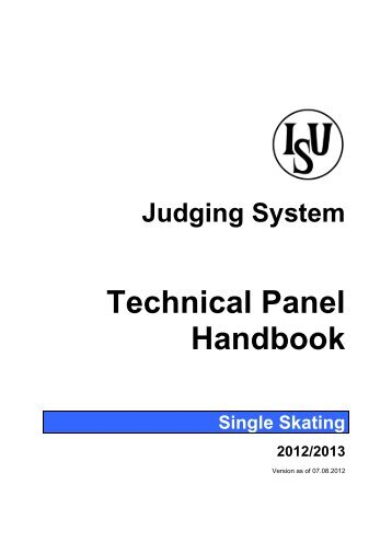 Technical Panel Handbook - Singles - US Figure Skating