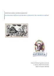 Det æstetiskes indflydelse på individets selvdannelse i ... - Nadja Lund
