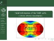 Tidal Deformation of the Solid Earth - stinekildegaard.dk