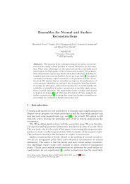 Ensembles for Normal and Surface Reconstructions - POSTECH ...