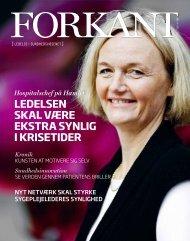 Forkant nr.4 2011 - Dansk Sygeplejeråd