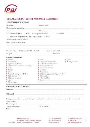 assurance pour h tes annonce de sinistre accident pdf erv. Black Bedroom Furniture Sets. Home Design Ideas