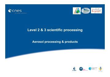 Level 2 & 3 scientific processing - ICARE