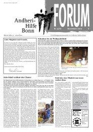 Neues von der Rosi-Gollmann - Andheri-Hilfe Bonn