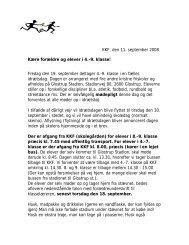 KKF, den 11. september 2008 Kære forældre og elever i 4.-9. klasse ...