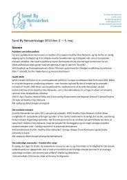 Uddybende tekst til programmet SBNdage 2013 - Sund By Netværket