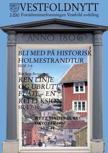 nummer 2 - 2010 - Fortidsminneforeningen Vestfold avdeling