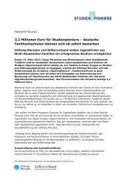 Ausschreibung - Stiftung Mercator
