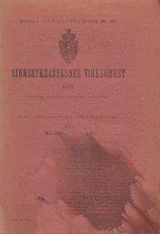 Sinnsykeasylenes Virksomhet 1921